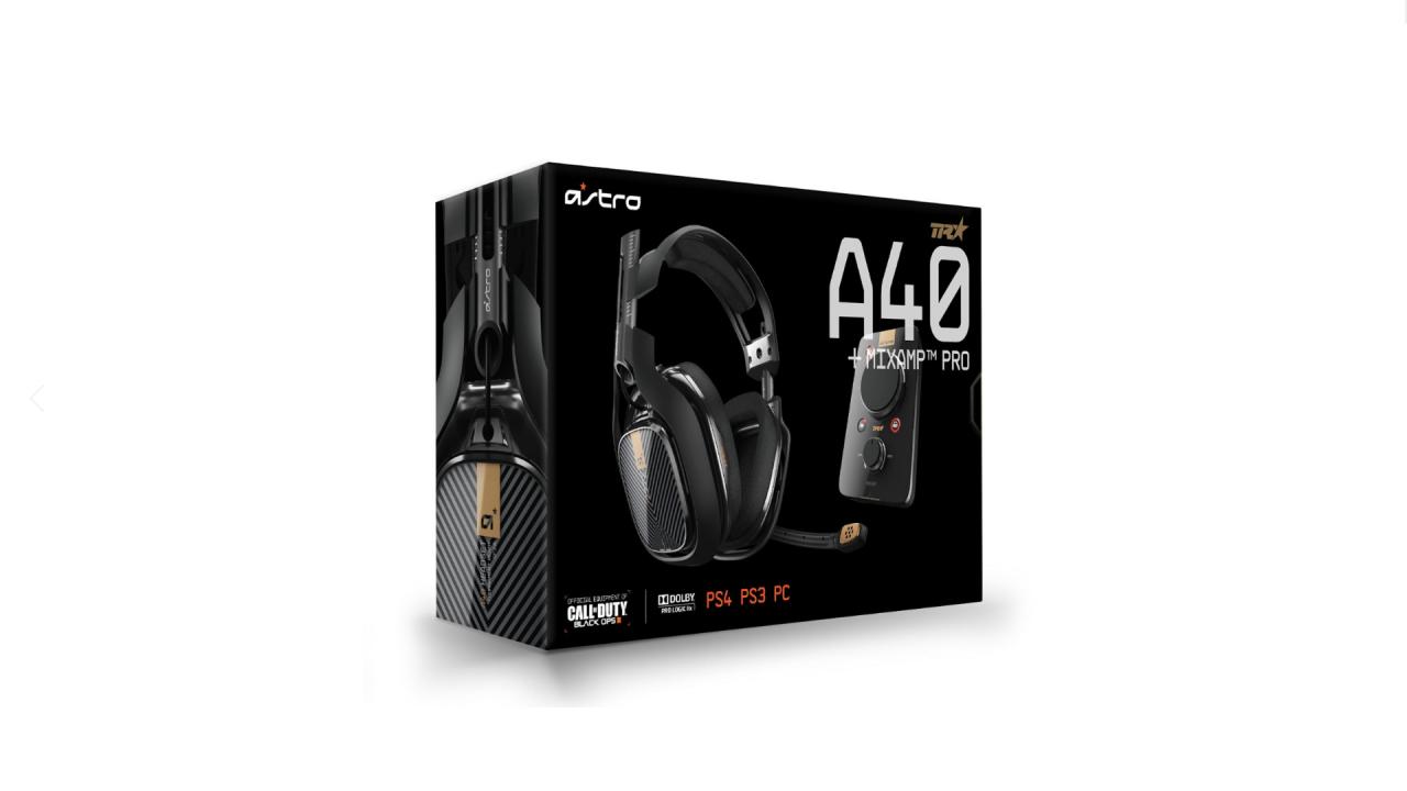Astro Gaming A40 Headset Inc Mix Amp Pro Black pentru PlayStation / PlayStation 4 | PS4
