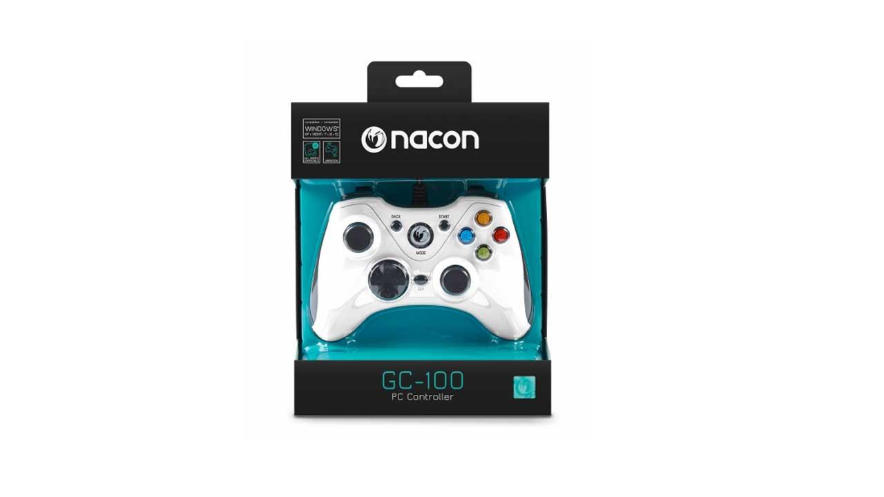 Nacon Controller Gaming Gc 100 White pentru Accesorii PC / Calculator   PC