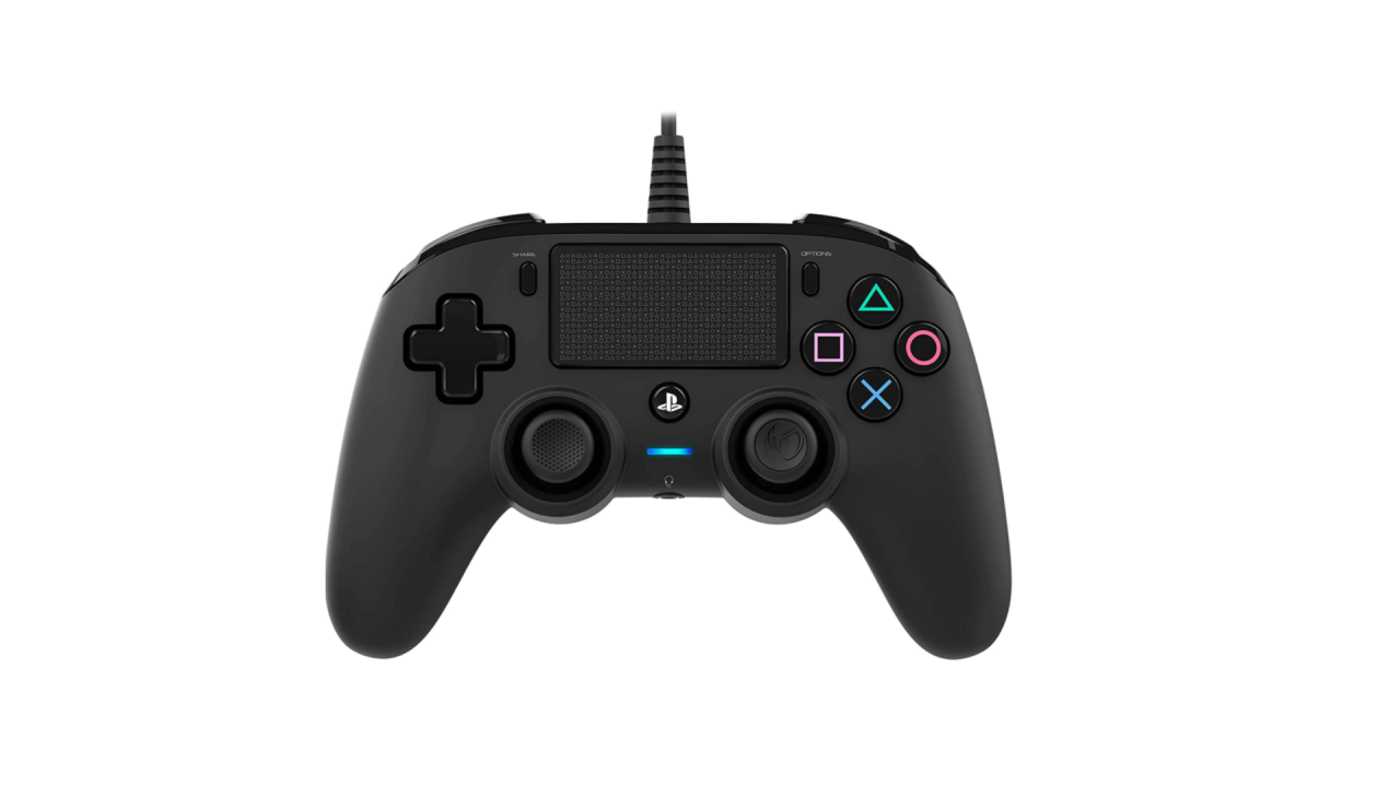 Nacon Wired Compact Controller Black Pentru Playstation 4   Ps4
