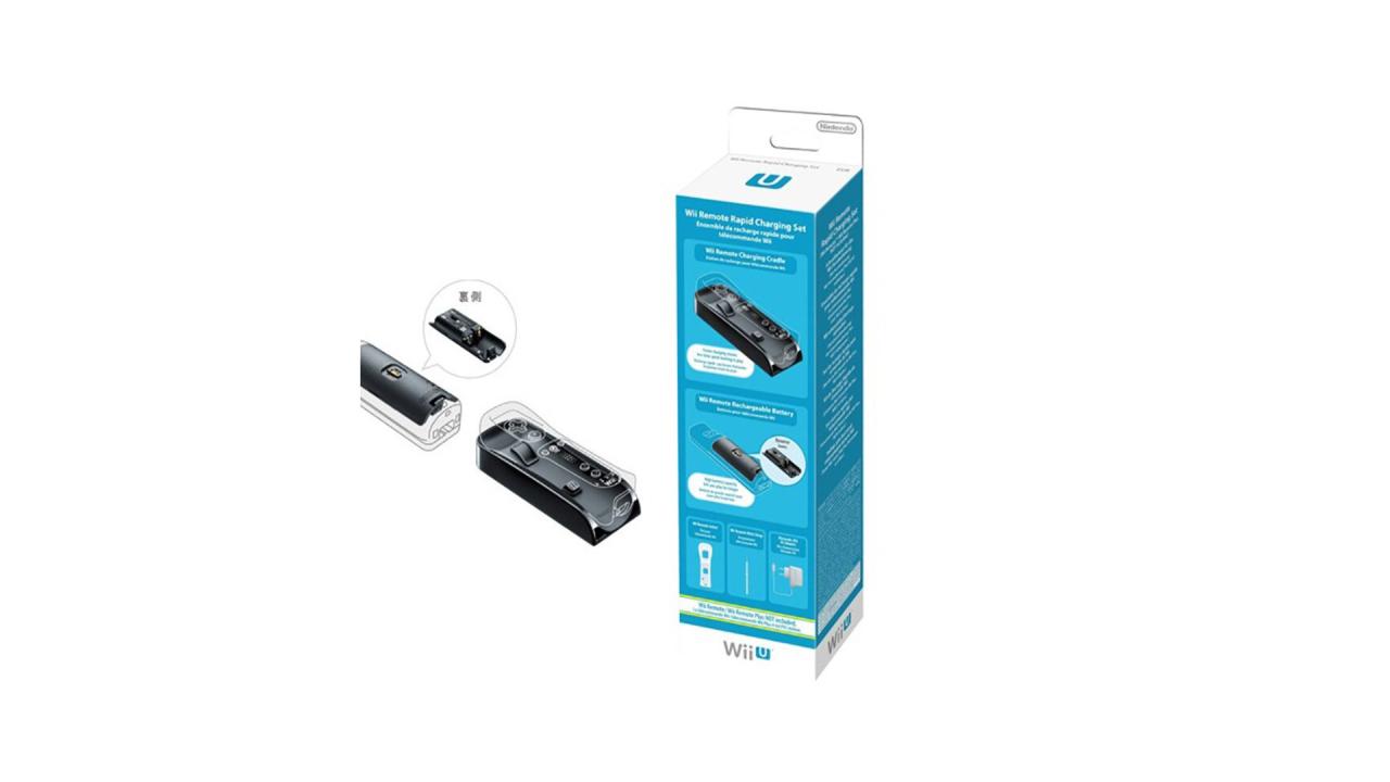 Nintendo Remote Rapid Charging Set Pentru Wii-u
