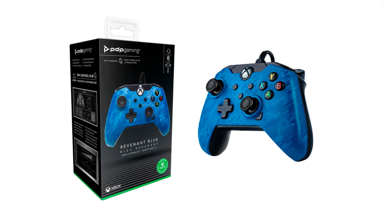 Pdp Wired Controller Blue Camo pentru XBOX / XBOX SERIES X | XBOX X