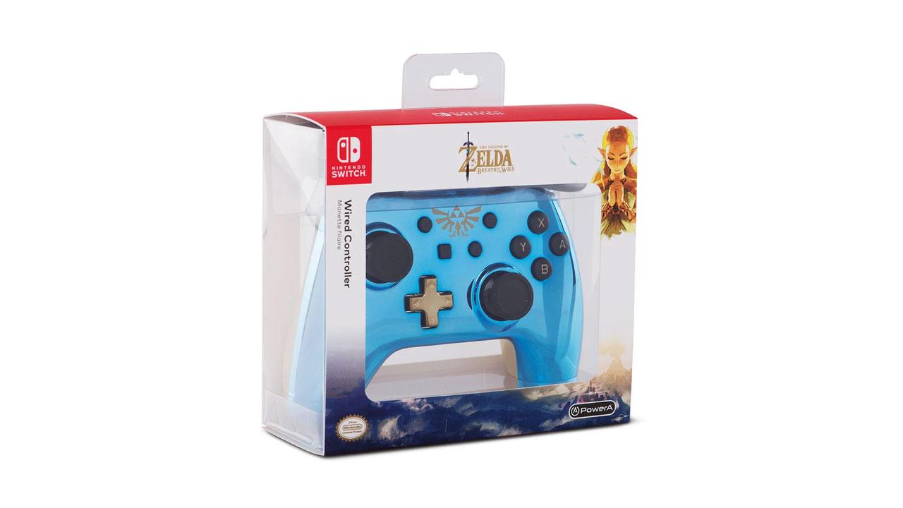Powera Controller Chrome Blue Zelda pentru Nintendo / Nintendo Switch   NSW
