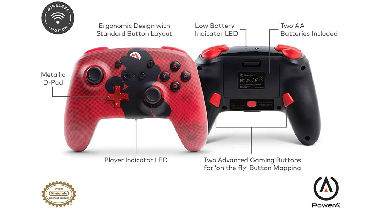Powera Enhanced Wireless Controller Mario Silhouette pentru Nintendo / Nintendo Switch   NSW