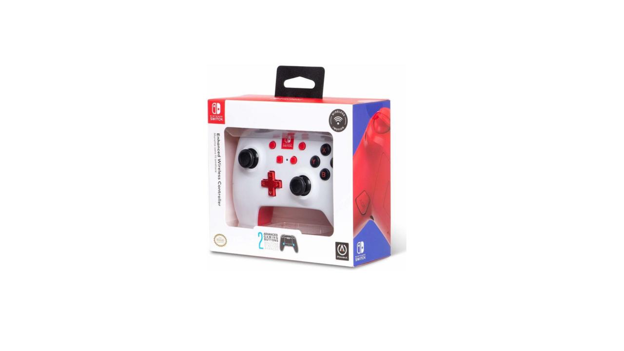 Powera Enhanced Wireless Controller White pentru Nintendo / Nintendo Switch   NSW