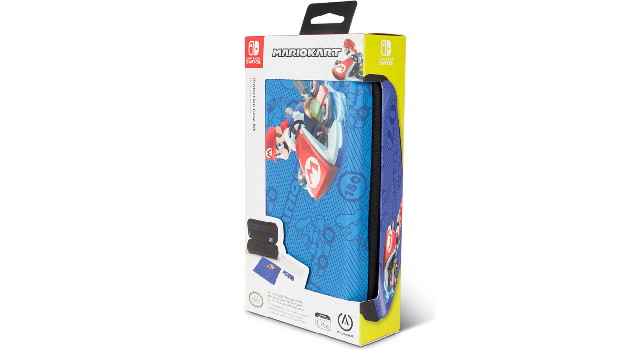 Powera Lite Protection Case Kit Blue Mario Kart pentru Nintendo / Nintendo Switch | NSW