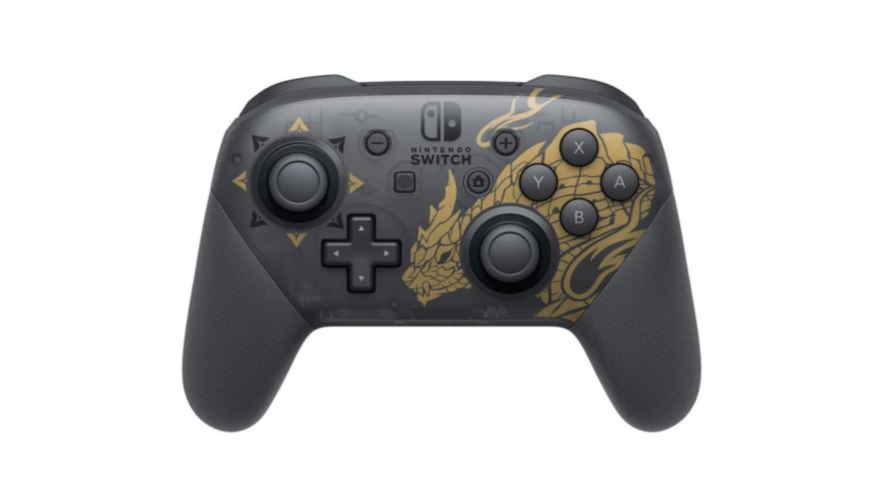 Pro Controller Monster Hunter Rise Edition Pentru Nintendo Switch