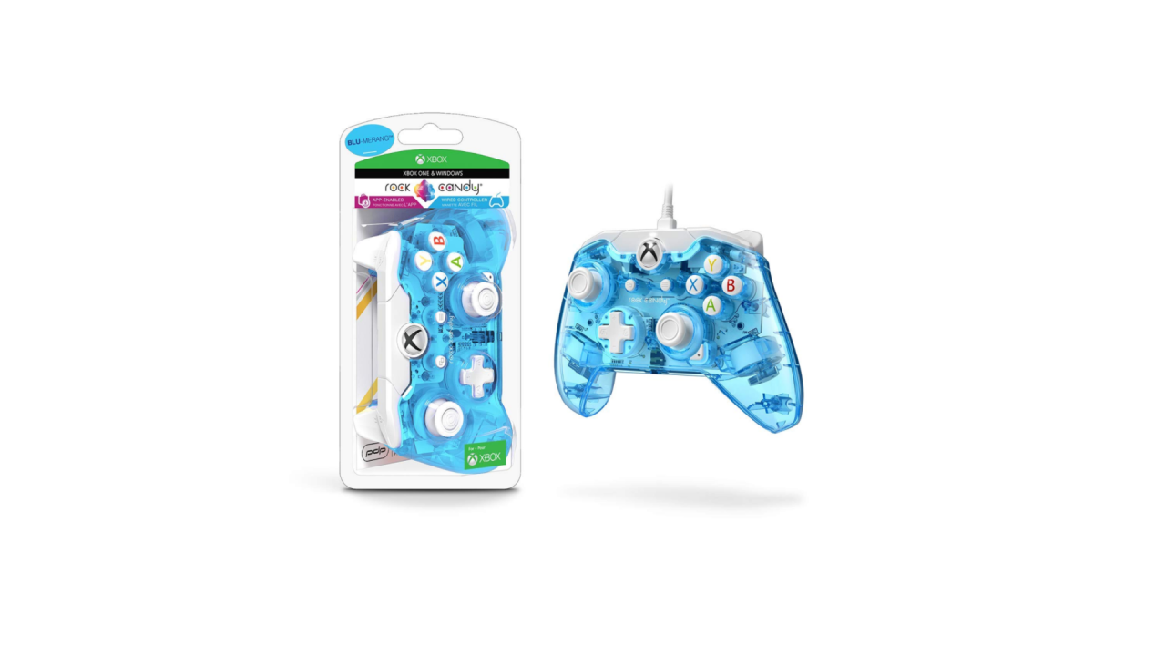 Wired Controller Rock Candy Mini Blu Merang pentru XBOX / Xbox One | Xbox1